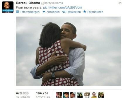 Obama wiedergewählt: Tweet