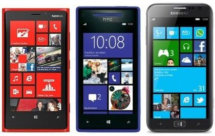 Windows Phone 8 Topmodelle