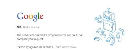 Google 502 HTTP-Error