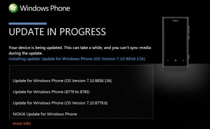 Windows Phone 7.8: Update-Anzeige