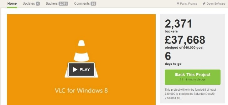 VLC f�r Windows 8