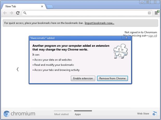 Chrome 25: Erweiterungen
