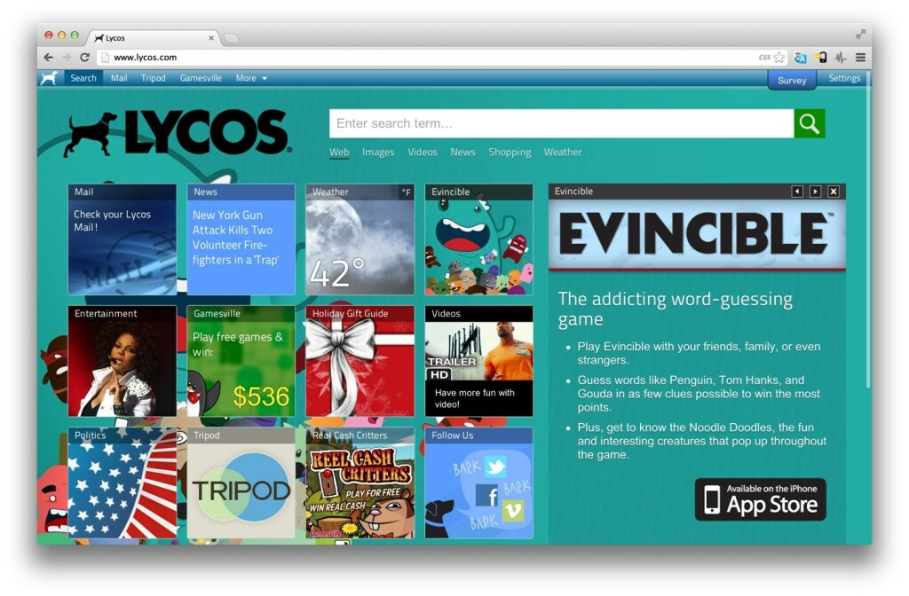 Lycos: neue suchmaschine 2013