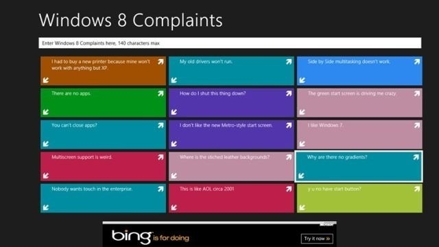 Windows 8 Complaints App
