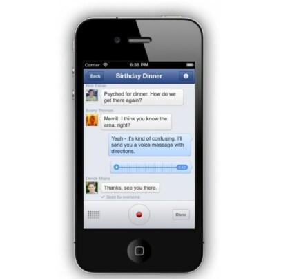 Facebook-Messenger mit Audio