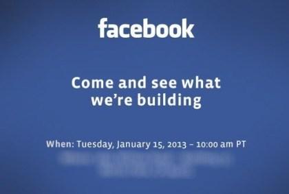 Facebook-Event 15. Januar 2013