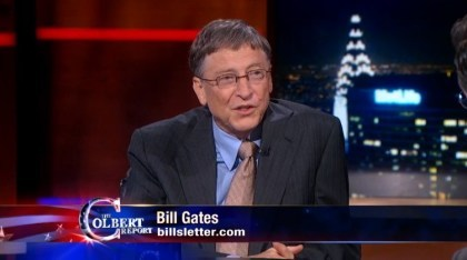 Bill Gates bei The Colbert Report