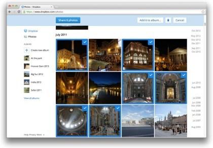 Dropbox: Fotos teilen und Vorschaufunktion