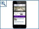 Das neue Seitendesign von Yahoo