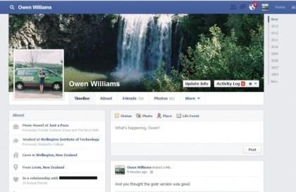 Facebook: Neues Profil
