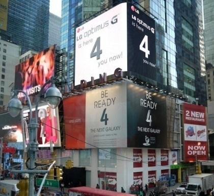 LG trollt Samsung am Times Square