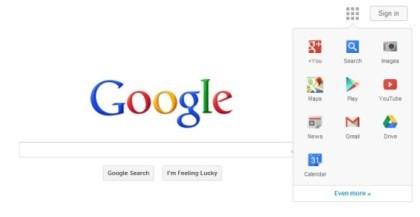 Google: Design ohne Top-Navi
