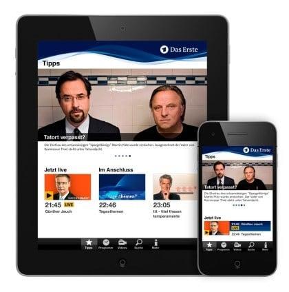Das Erste: App f�r iOS und Android
