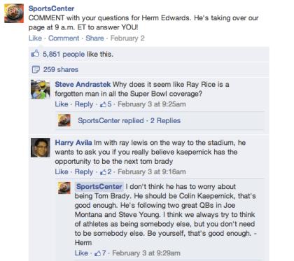 Facebook: Kommentare mit Baum-Struktur