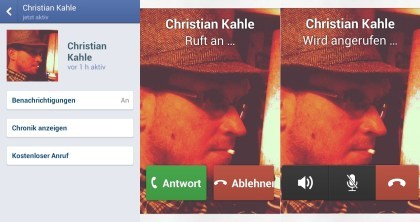 Telefonieren �ber Facebook
