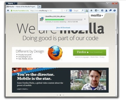Firefox 20 - Download-Manager