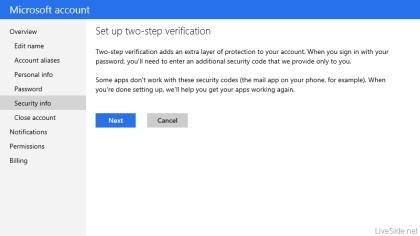 Microsoft: Zwei-Wege-Authentifizierung