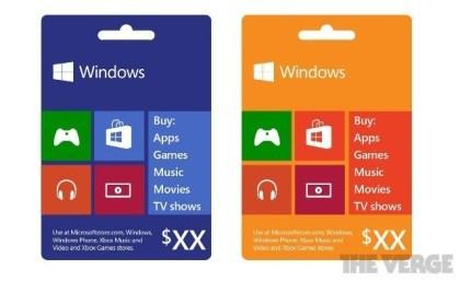 Neue Microsoft-Geschenkkarten