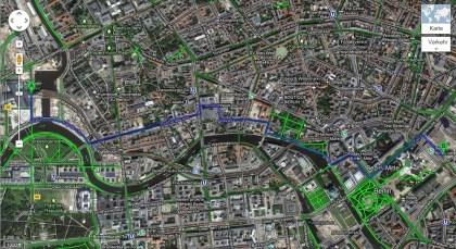 Google Maps: Fahrrad