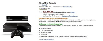 Xbox One bei Amazon