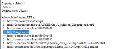 Mega: DMCA-Beschwerde