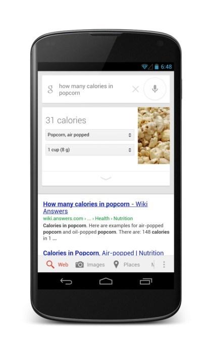 Google Suche: Nahrungsmittel