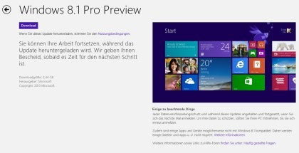 Windows Store unter Windows 8.1