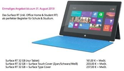Surface RT für Schulen