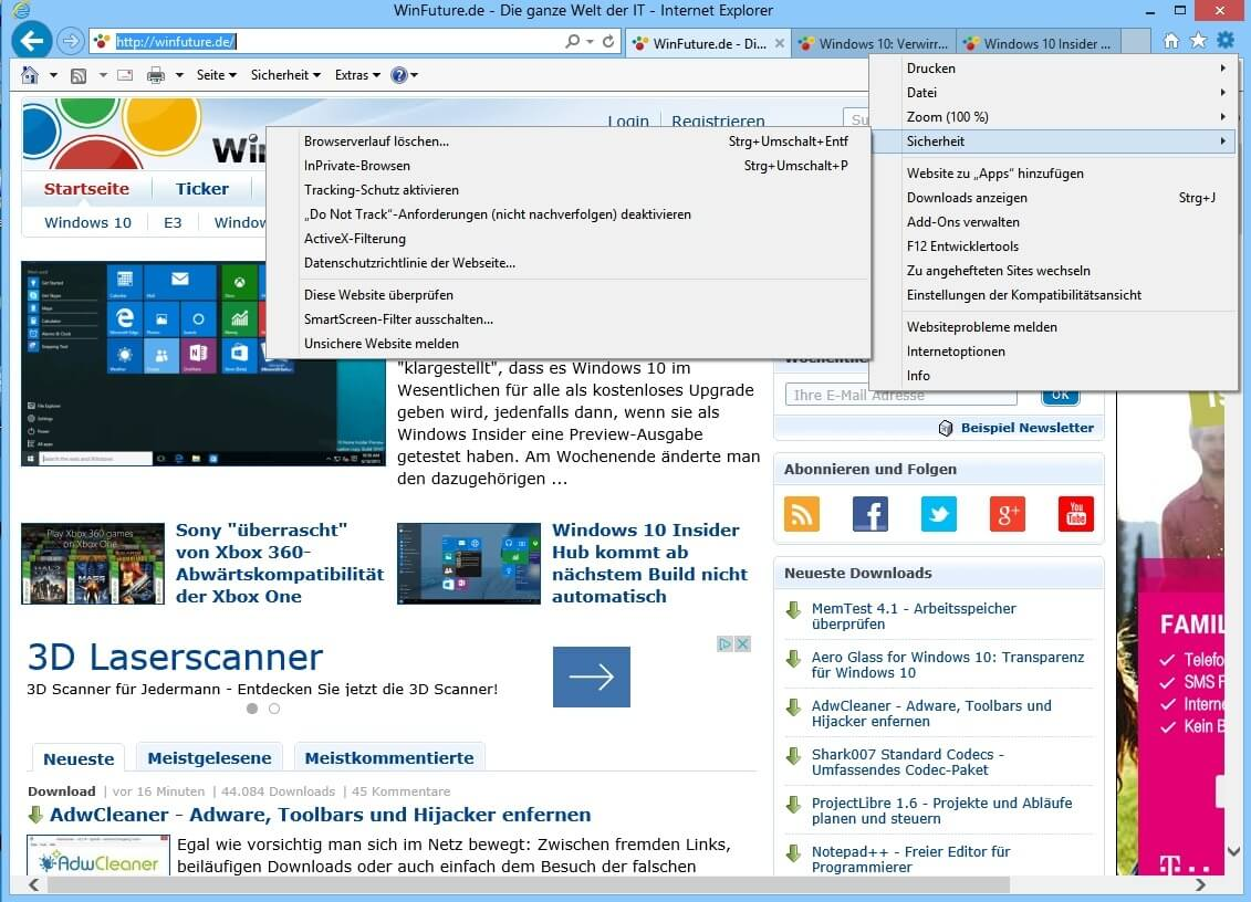 download internet explorer für windows 10