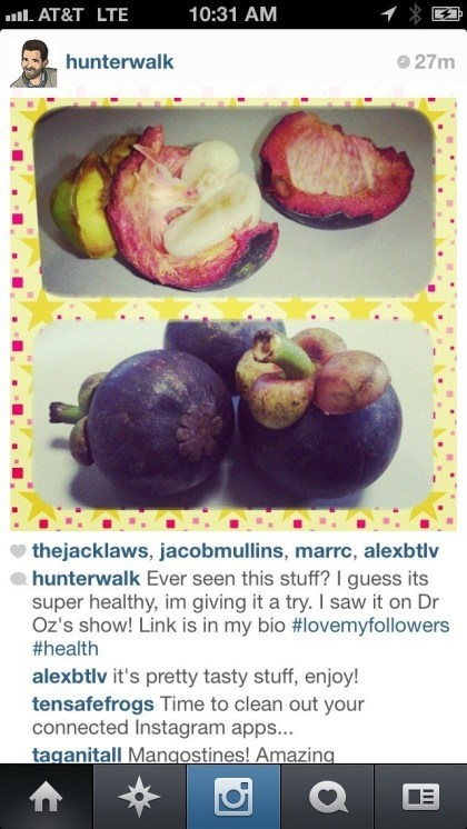 Obst-Spam bei Instagram