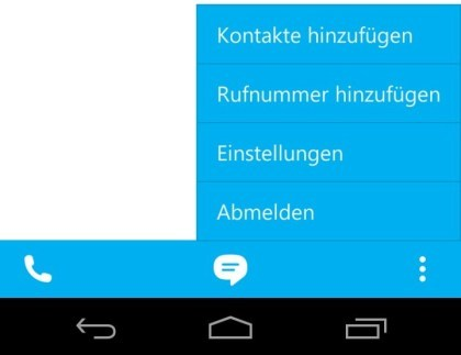 Skype für Android: Version 4.0