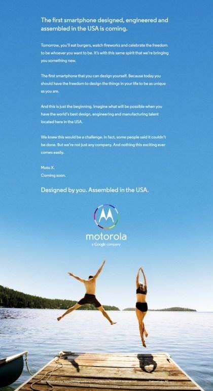 Moto X: Werbekampagne