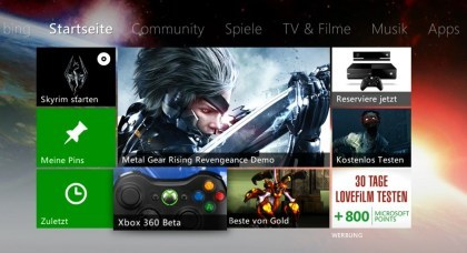 Xbox 360: Dashboard-Update-Beta 2013