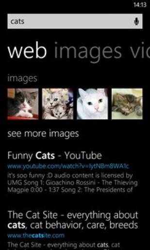 Update für Bing unter Windows Phone 8