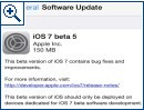 Apples iOS 7 in der Beta 5