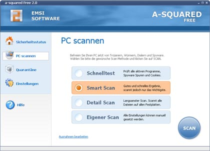 Spyware-Scanner a-squared