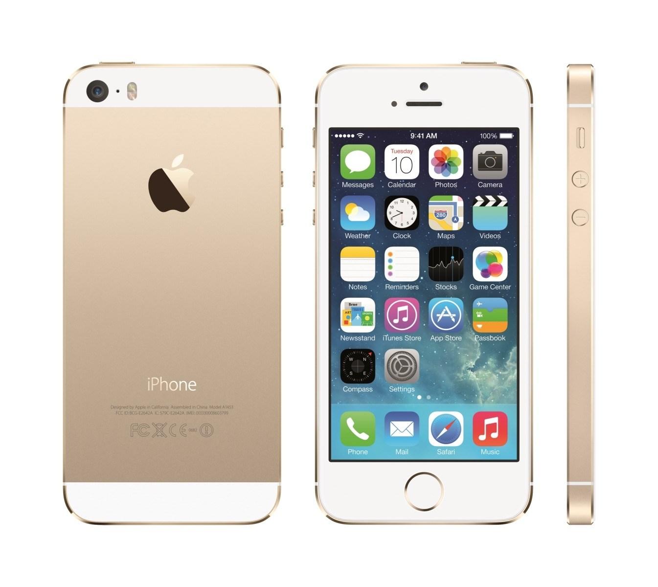 80f75d4817 Apple iPhone 5S in Gold Zuerst war offenbar die goldene Variante  vergriffen, inzwischen gilt dies aber auch für die weiße und die graue  Version.