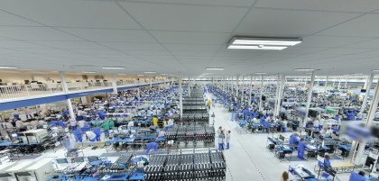 Moto-X-Produktionshalle