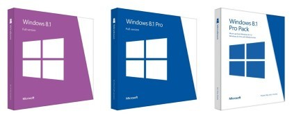 Windows 8.1 Retail-Verpackungen