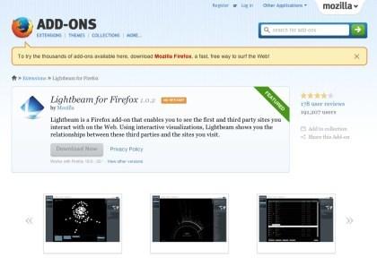 Lightbeam für Firefox