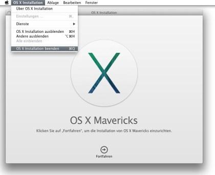 OS X 10.9: bootfähigen USB-Stick erstellen