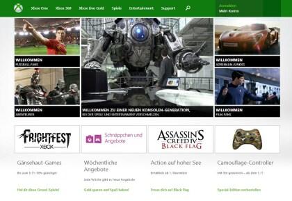 Xbox.com: Neues Seitendesign
