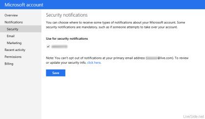Neue Features im Microsoft Account