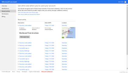 Neue Features im Microsoft Account