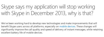 Microsoft - Skype API
