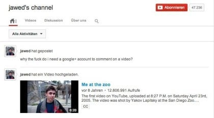 Jawed Karim YouTube Account