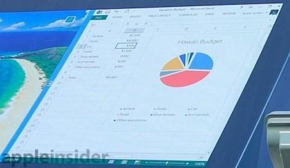 Excel Fehler in Surface Werbung