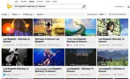 Bing Music Search