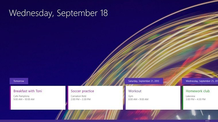 Windows 8.1 Kalender