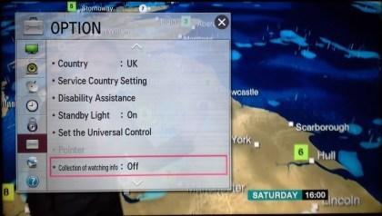LG Smart TV sammelt Daten